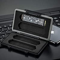 4 Slots Water-Resistant Protector Case Storage Holder fits M.2 2280 Internal SSD