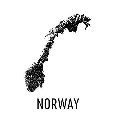 Norway Map, Map of Norway, Norway Poster, Norway Print ...