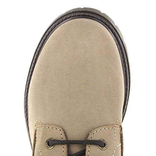Chukka Damen Grau Boots Taupe WL172500 Schnürstiefel Wrangler Creek Boots FB Schnürung Fashion Stiefel F6qwOSYP