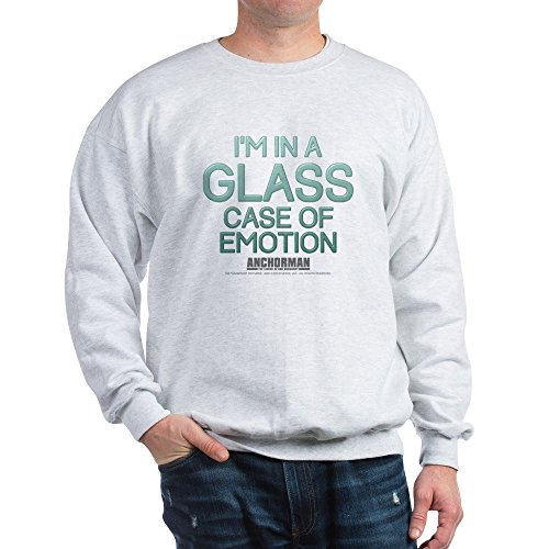 CafePress Glass Case of Emotion Classic Crew Neck Sweatshirt Ash -