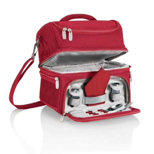 ONIVA - a Picnic Time Brand Pranzo Insulated Lunch Tote, Red (Best Lunch Box Brands)