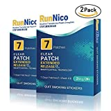 RunNico Nicotine Transdermal Patches|Stop Smoking Aid|Nicotine System Patch|Smoking Cessation Products-14 Clear Patches-21mg/24h