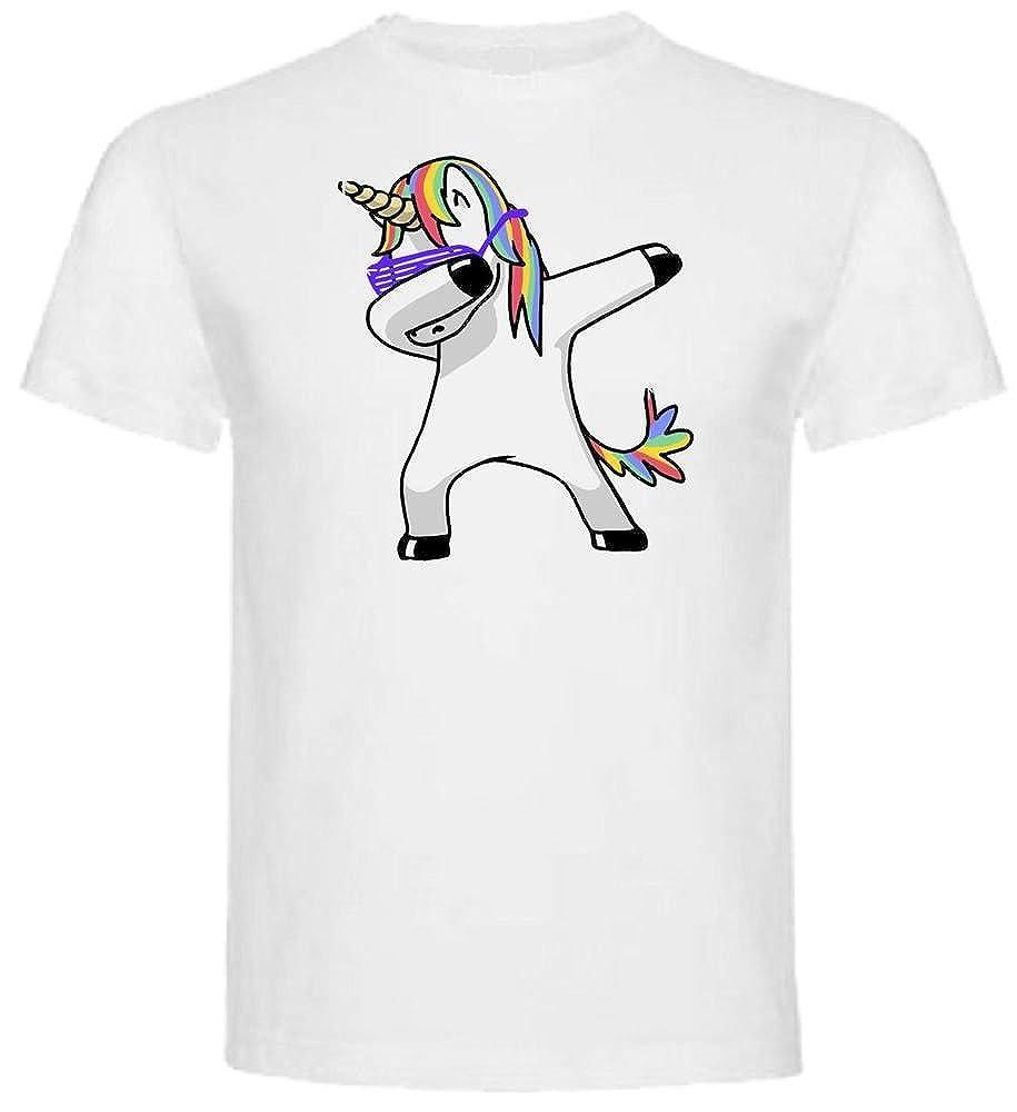 T-Shirt Maglietta Maglia Me Contro Te Unicorno Dab 100% Poliestere Lavabile in Lavatrice