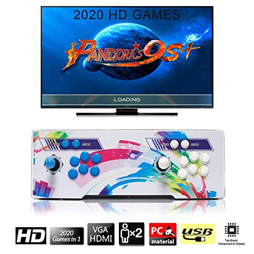 SeeKool [2020 HD Retro Games] Arcade Video Game Console, Pandora's Box 6 Multiplayer Home Players Joystick Arcade Machine, Customized Buttons, 1280x720 Full HD, Upgraded CPU, Support PS3 (Top 20 Best Ps3 Games)