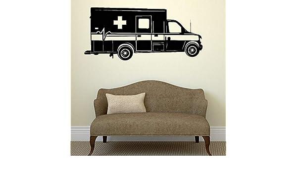 zqyjhkou Ambulancia Coche Medicina Pegatinas de Pared ...