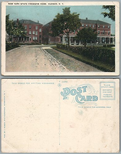 HUDSON N.Y. NEW YORK STATE FIREMANS HOME ANTIQUE POSTCARD
