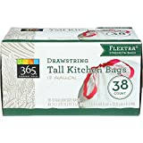 365 Everyday Value Tall Drawstring Kitchen Bags, 13 Gallon Size, 38 Count