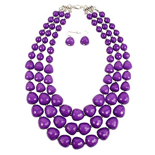 Multi Bead Necklace Set - 1