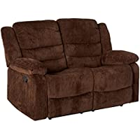 Coaster Home Furnishings Casual Motion Loveseat, Chocolate/Chocolate