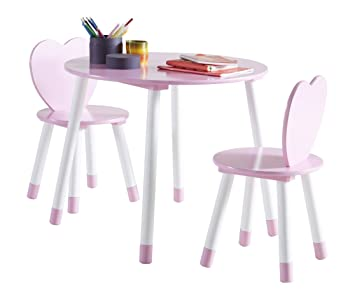 Kindersitzgruppe Matteo 01 3 Teilig Farbe Rosa Weiß