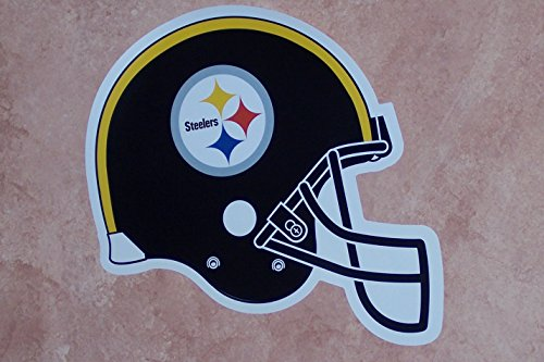 FATHEAD Pittsburgh Steelers Team Helmet Logo - Official NFL Vinyl Wall Graphic 13