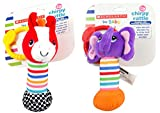 Scholastic Baby Rattle, Styles Vary, 3-Pack