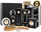 8 in 1 Mens gifts for Men Beard Care Growth Grooming Kit Unscented Beard Oil +Free Shaving Cream & Beard Comb+Beard Balm+Beard Brush+Beard Scissors+Storage Bag+Gift Box by XIKEZAN