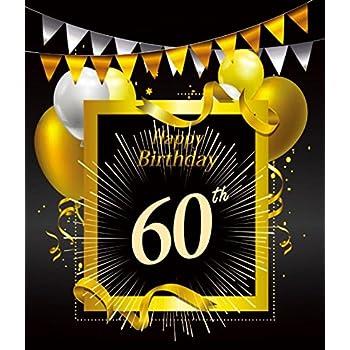 Amazon Com 60 Years Happy Birthday Photo Backdrop 60th