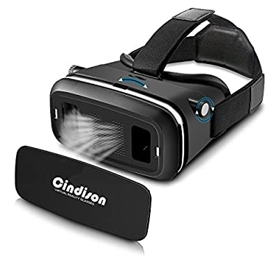 CINDISON VR Virtual Reality Headset 3D Glasses Adjust Cardboard VR BOX For 4.7~6
