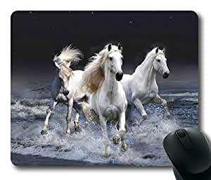 Horses Running in the River Rectangle mouse pad by Custom Service Your Best Choice