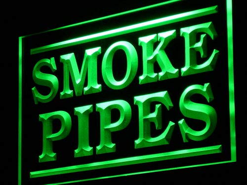ADVPRO Smoke Pipes Shop Display Adv LED Neon Sign Green 24 x 16 Inches st4s64-j076-g