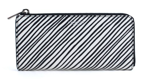 Size Multicolor Zip Bleecker Silver Coated White Wallet Slim Canvas Checkbook One COACH qPzHxASwq