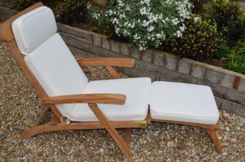 Classic Garden Steamer Chair Cushion   Cushion Only   Natural