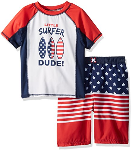 Baby Buns Toddler Boys' Two Piece Surf USA