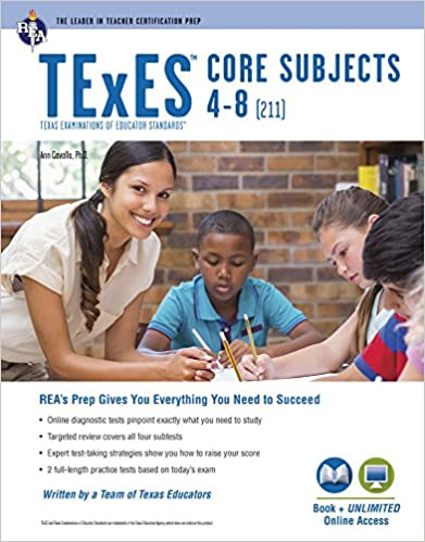 texes core subjects 4-8 (211) book + online (texes teacher ...