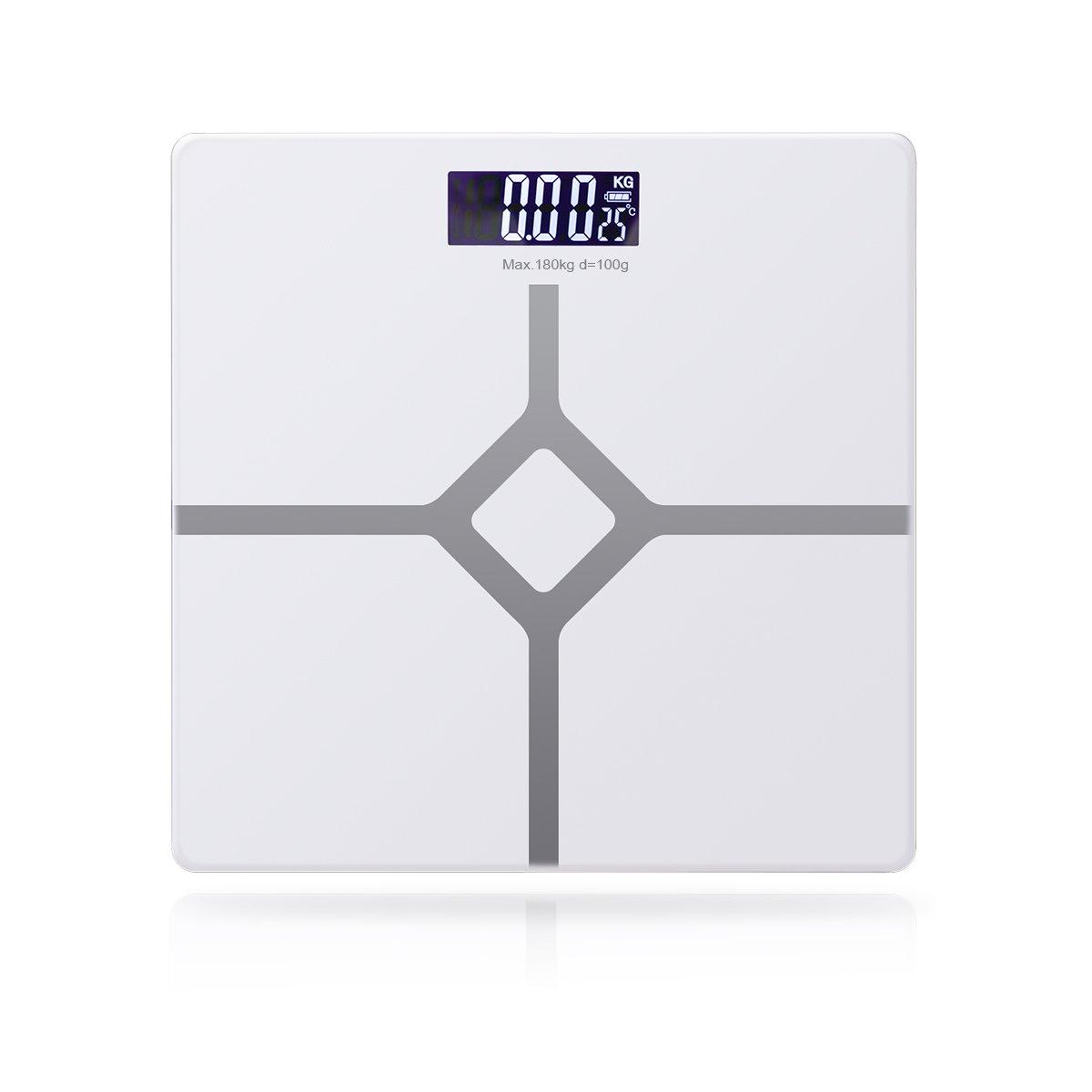Baban Digital Body Weight Bathroom Scales, Step-On Technology for Instant Weight Reading, Environmentally Friendly USB Charging Electronic Scale(USB Cable Supplied), Backlit LED Auto on/off Easy Read Display, Max Capacity 180kg, White