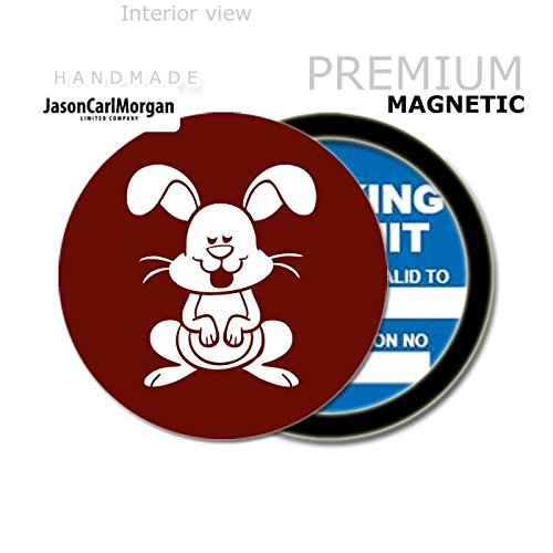 Burgundy JCM Bunny MOT License Tax Disc Permit Holders