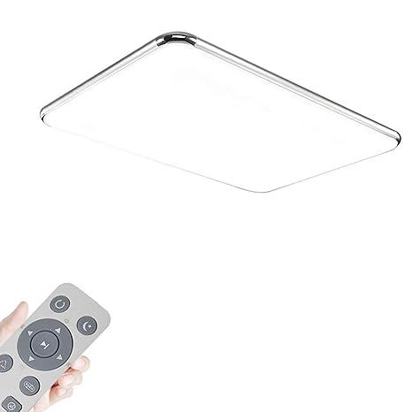 MYHOO 72W Regulable LED luz de techo Moderna lámpara de techo Piso Salón Lámpara Dormitorio [Clase energética A+]