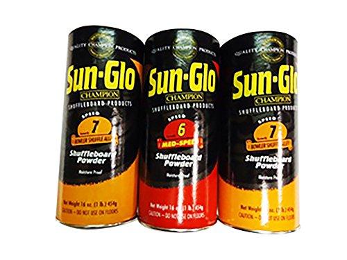 Sun-Glo Slow Speed Shuffleboard Powder Wax - 3 Pack