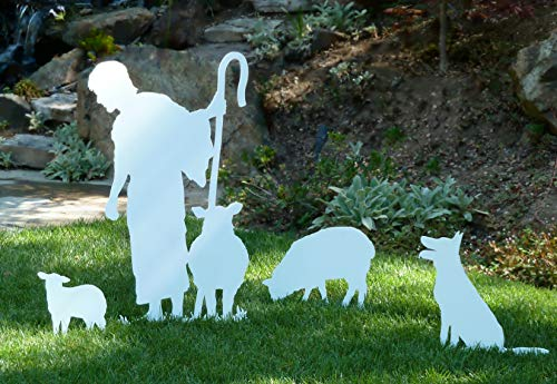 MyNativity Life Size Standing Shepherd Outdoor Nativity Set (3]()