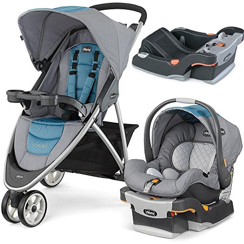 Chicco Coastal Viaro Stroller Travel System with extra Keyfit 30 Base - Anthracite