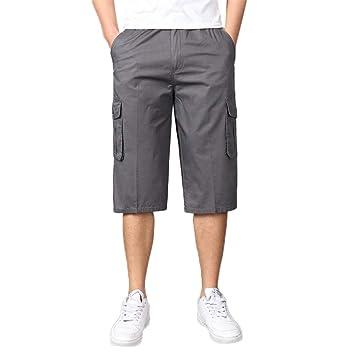 Pantalones Casuales Hombre LMMVP Poliéster Verano Shorts Casual ...