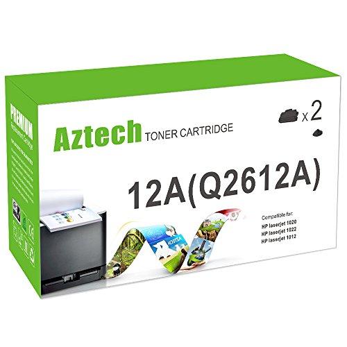 Aztech 2 Pack Replaces 12A Q2612A (Q2612D) Black Toner Ca...