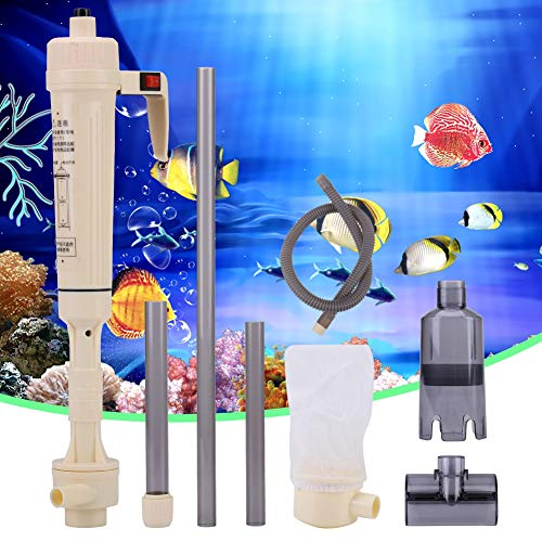 Electric Auto Aquarium Gravel Cleaner, Fish Tank Siphon Water Change Cleaning Tool, Automatic Sludge Extractor Water…