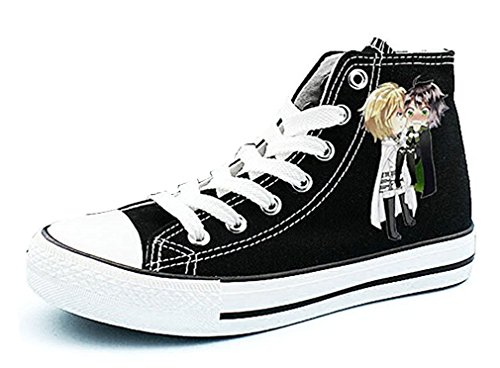 Bromeo Seraph Of The End Unisexe Toile Salut-Top Sneaker Baskets Mode Chaussures