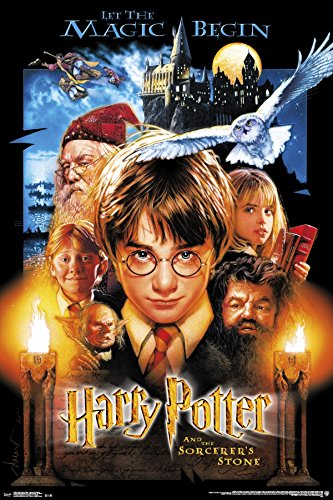 Trends International 24x36 Harry Potter-Sourcerer's Stone Premium Wall Poster, 22.375