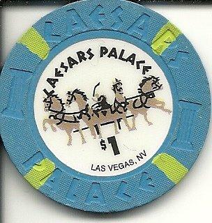 $1 caesar's palace obsolete las vegas casino - Caesars Palace Chip