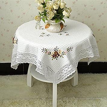 VULK hogar cocina restaurante lino cinta bordado sofá toalla toalla con más de la nevera, mantel para el Hotel casa de fiesta, mantel: Amazon.es: Hogar