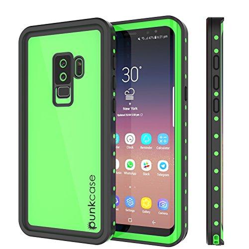 Galaxy S9 Plus Waterproof Case, Punkcase [StudStar Series] [Slim Fit] [IP68 Certified] [Shockproof] [Dirtproof] [Snowproof] Armor Cover for Samsung Galaxy S9+ [Light Green]