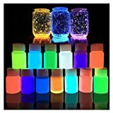 Makaor Glow in the Dark Paint Luminous Paint Acrylic Bright Pigment Party Decoration DIY 20g By (Wight:20g, C)