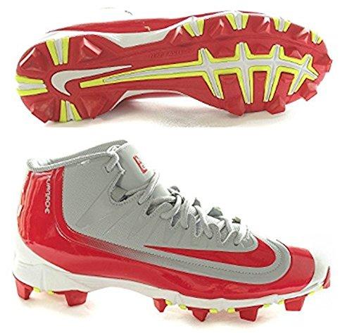 Boy's Nike Huarache 2KFilth Keystone (GS) Baseball Cleat Wolf Grey/White/Red Size 1 M US