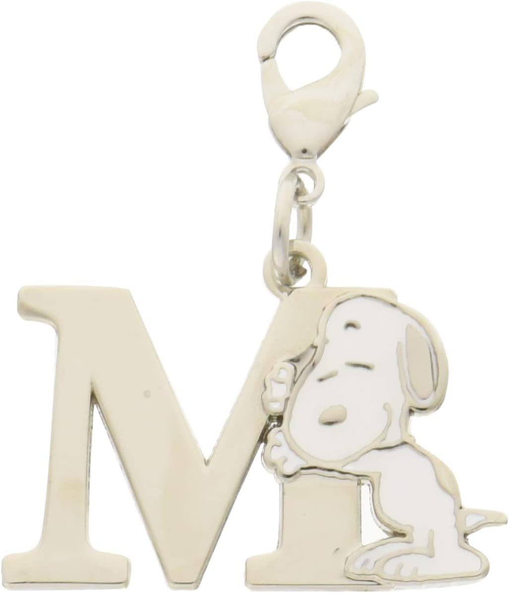 Peanuts Key Charm Collection Snoopy Initials M Key Chain