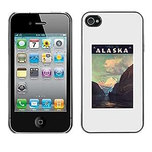 TopCaseStore / la caja del caucho duro de la cubierta de protección de la piel - Mountains Winter Usa State - Apple iPhone 4 / 4S