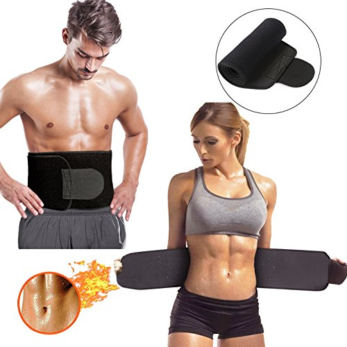 Waist Trimmer, Adjustable Ab Sauna Belt Trainer to Shed the Excess Water, Weight and Tone of Mid Section for Faster Weight Loss