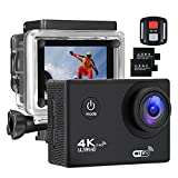 #6: Action Camera 4K 16MP Sports Cam - BUIEJDOG HD WiFi Waterproof Action Camcorder with 170°Wide Angle Lens 2 Rechargeable Batteries Remote Control and 18 Mounting Accessories Kits