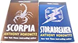 Author Anthony Horowitz Two Book Bundle Of The Alex Rider Series Includes: Scorpia and Stormbreaker