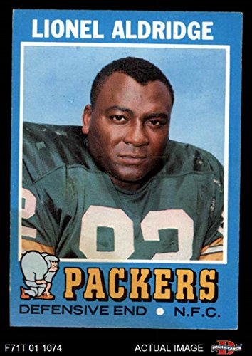 1971 Topps # 28 Lionel Aldridge Green Bay Packers (Football Card) Dean's Cards 5 - EX (1971 Topps Football Card)