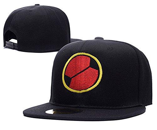 [HAISHEN MegaMan EXE Navi Mark Logo Adjustable Snapback Embroidery Hats Caps - Black] (Megaman Hat)