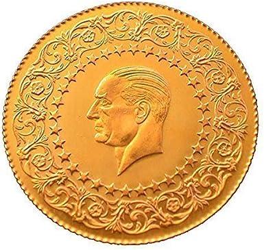 Turco de oro de 25 piastras Kurush 2014 ataturk çeyrek Altin sin con regalo: Amazon.es: Electrónica