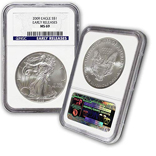 2009 American Silver Eagle $1 MS69 NGC Early Releases